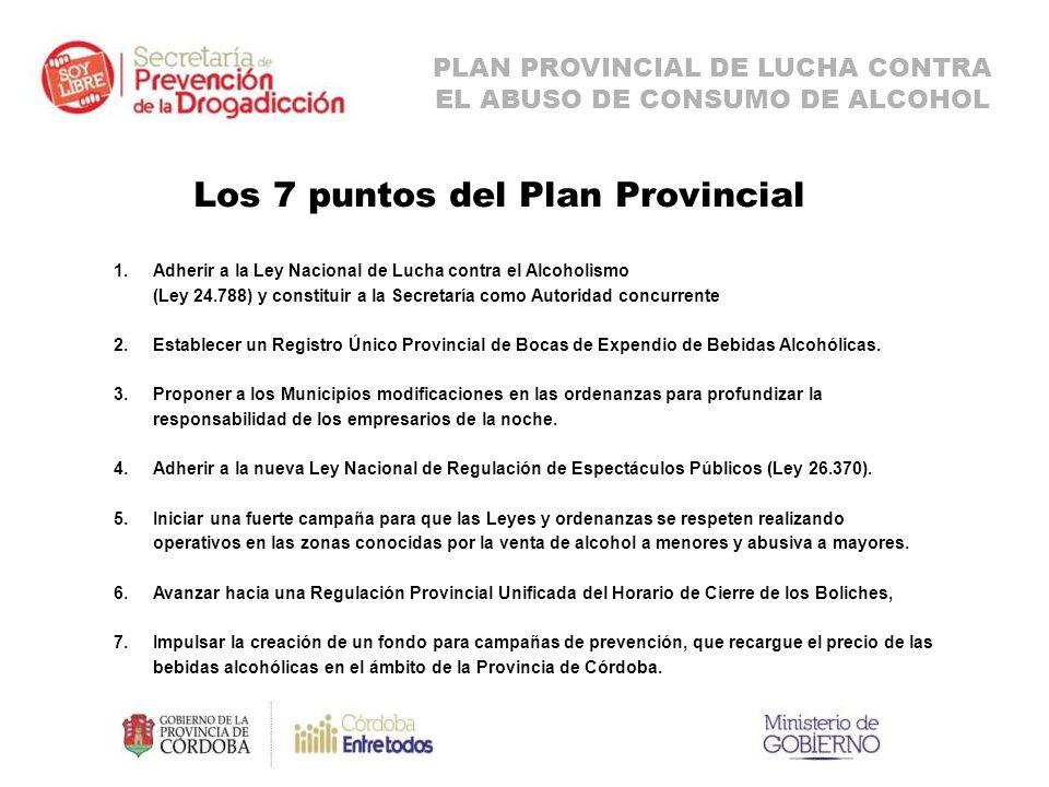 Los 7 puntos del Plan Provincial