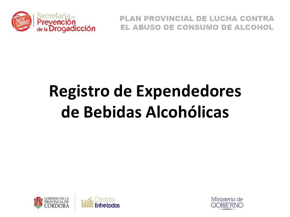 Registro de Expendedores de Bebidas Alcohólicas