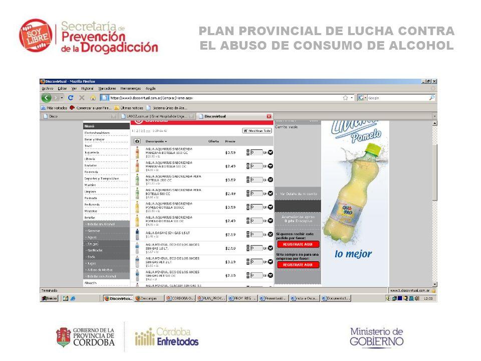 PLAN PROVINCIAL DE LUCHA CONTRA EL ABUSO DE CONSUMO DE ALCOHOL