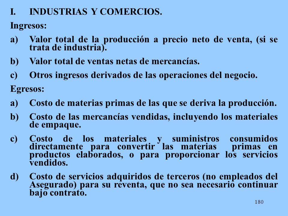 INDUSTRIAS Y COMERCIOS.