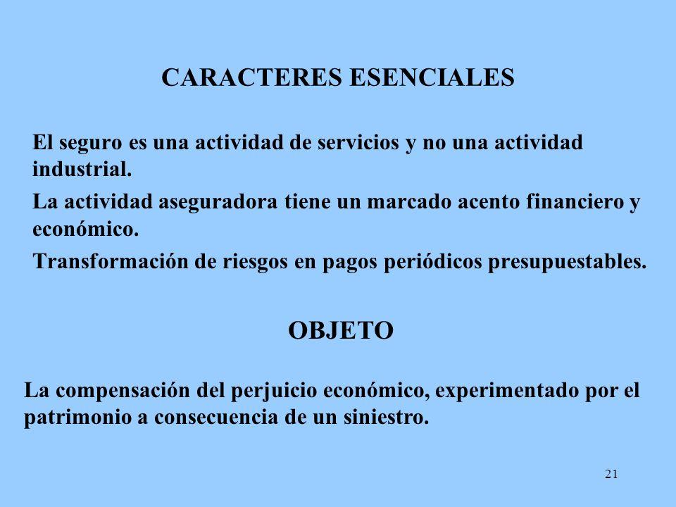 CARACTERES ESENCIALES