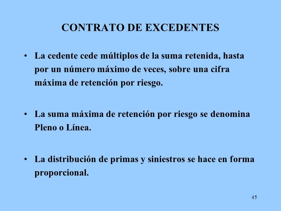 CONTRATO DE EXCEDENTES