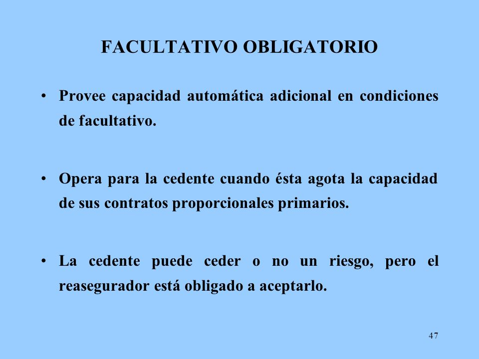 FACULTATIVO OBLIGATORIO