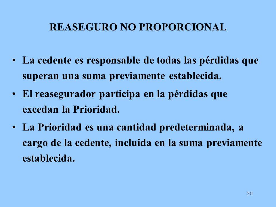 REASEGURO NO PROPORCIONAL