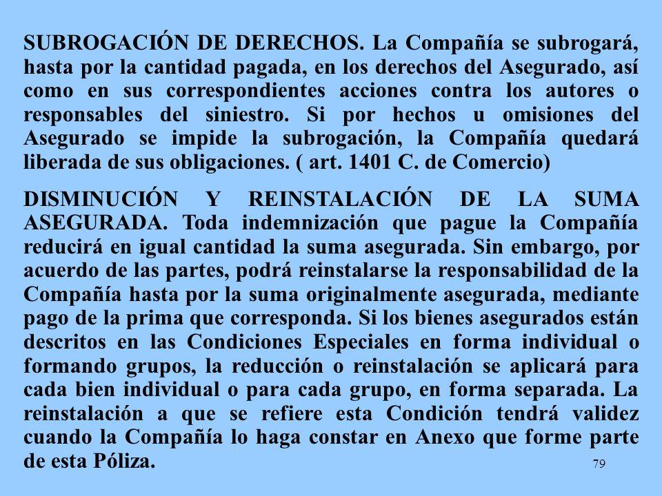 SUBROGACIÓN DE DERECHOS