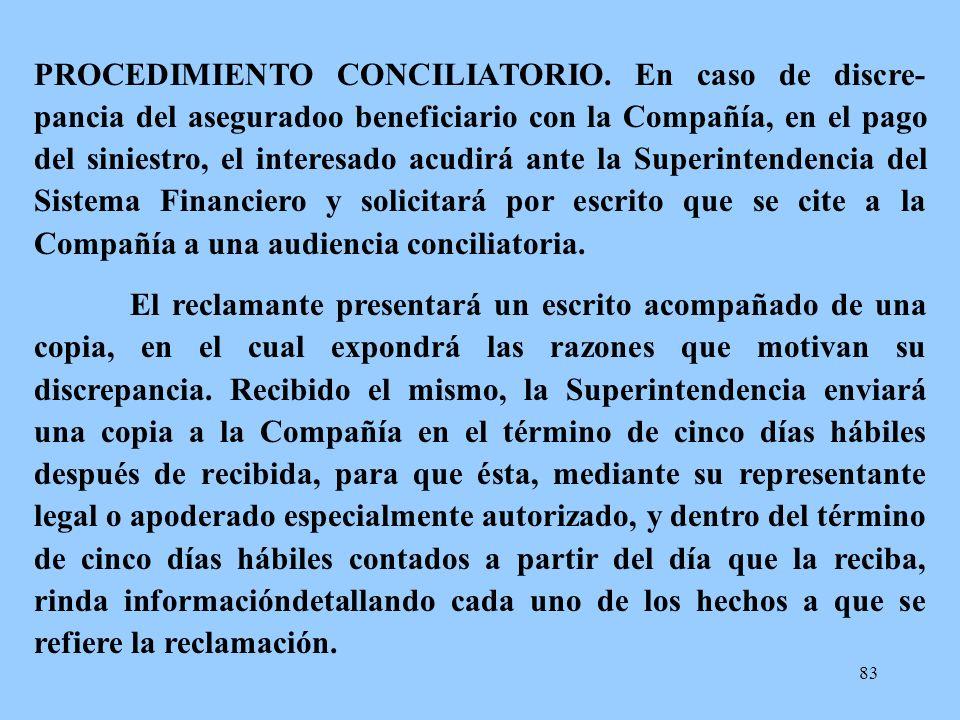 PROCEDIMIENTO CONCILIATORIO
