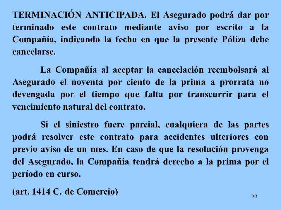 TERMINACIÓN ANTICIPADA