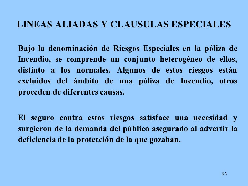 LINEAS ALIADAS Y CLAUSULAS ESPECIALES