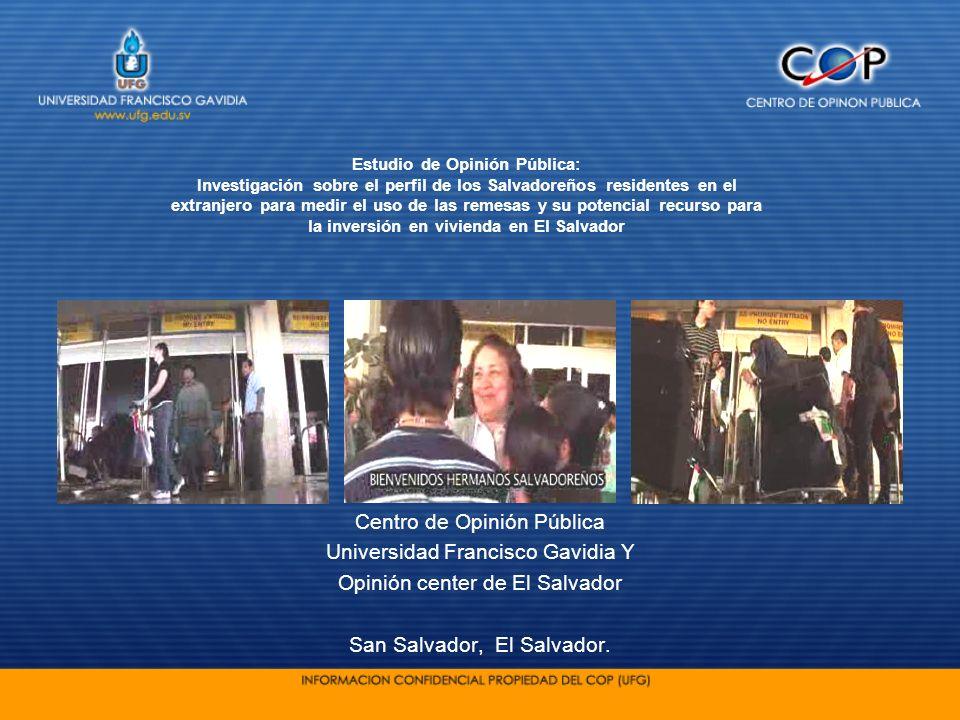 Centro de Opinión Pública Universidad Francisco Gavidia Y