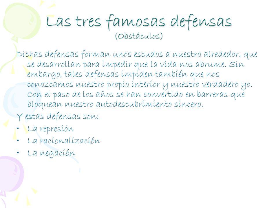 Las tres famosas defensas (Obstáculos)