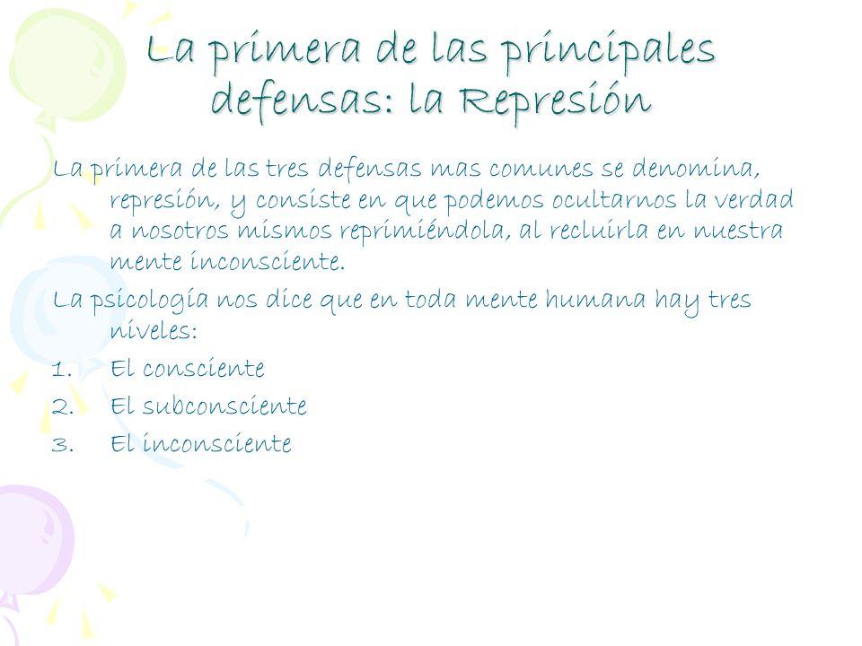 La primera de las principales defensas: la Represión