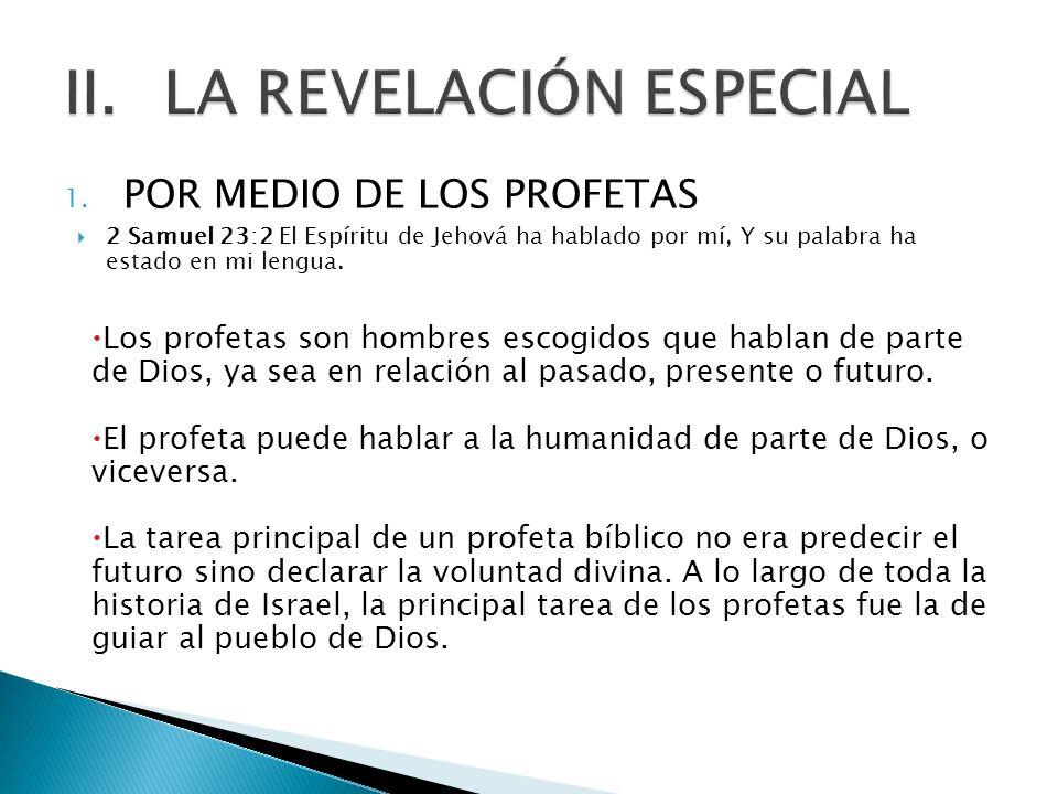 LA REVELACIÓN ESPECIAL