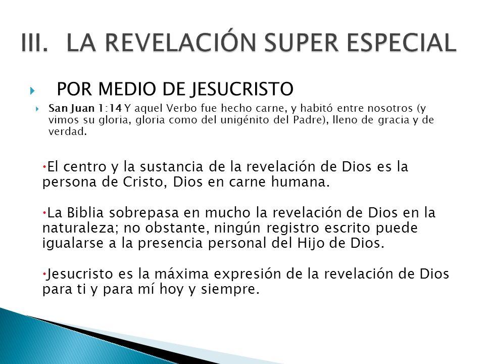 LA REVELACIÓN SUPER ESPECIAL
