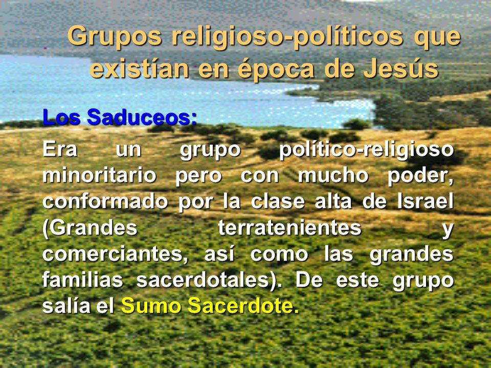 Grupos religioso-políticos que existían en época de Jesús
