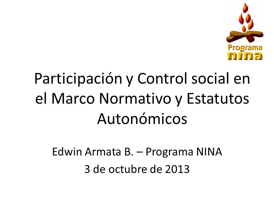 Edwin Armata B. – Programa NINA 3 de octubre de 2013