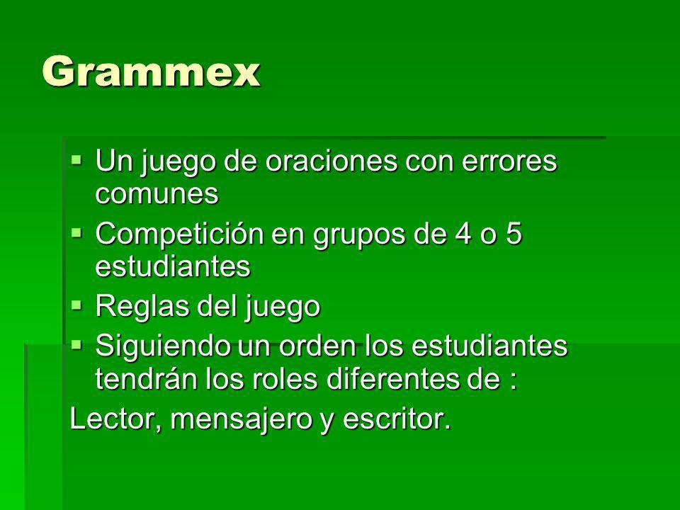Grammex Un juego de oraciones con errores comunes