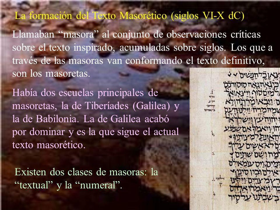 La formación del Texto Masorético (siglos VI-X dC)