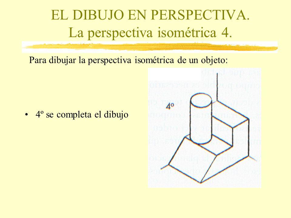 EL DIBUJO EN PERSPECTIVA. La perspectiva isométrica 4.