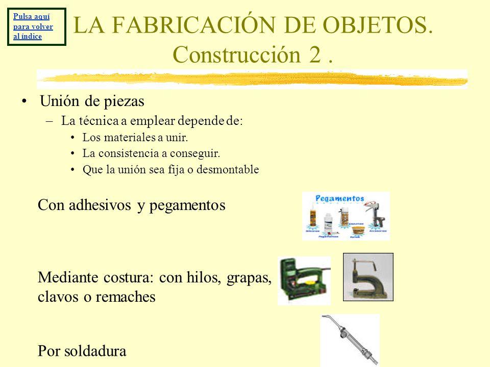 LA FABRICACIÓN DE OBJETOS. Construcción 2 .