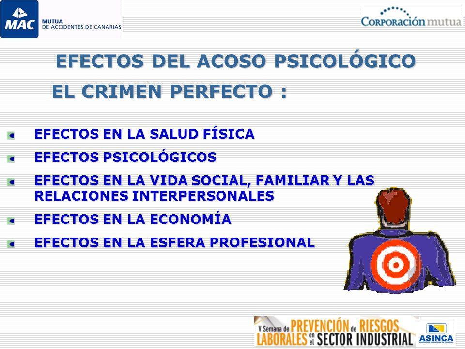EFECTOS DEL ACOSO PSICOLÓGICO