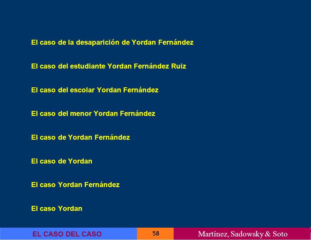 El caso de la desaparición de Yordan Fernández