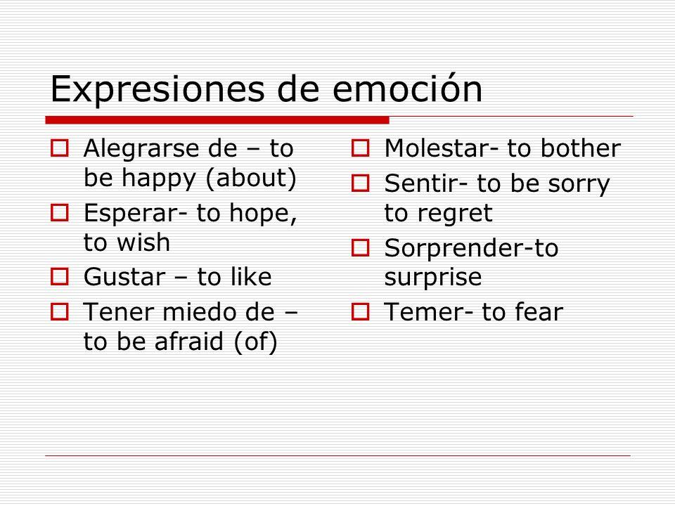 Expresiones de emoción