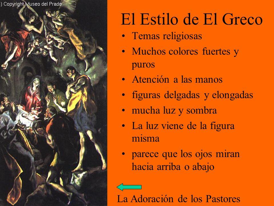 El Estilo de El Greco Temas religiosas Muchos colores fuertes y puros
