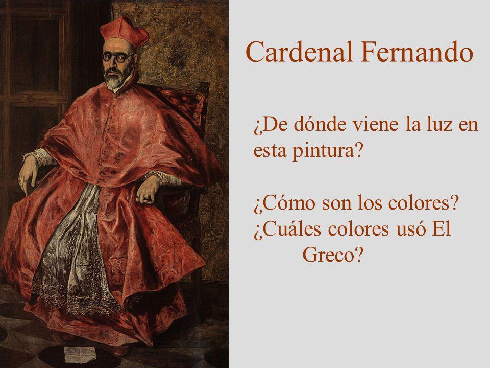 Cardenal Fernando ¿De dónde viene la luz en esta pintura