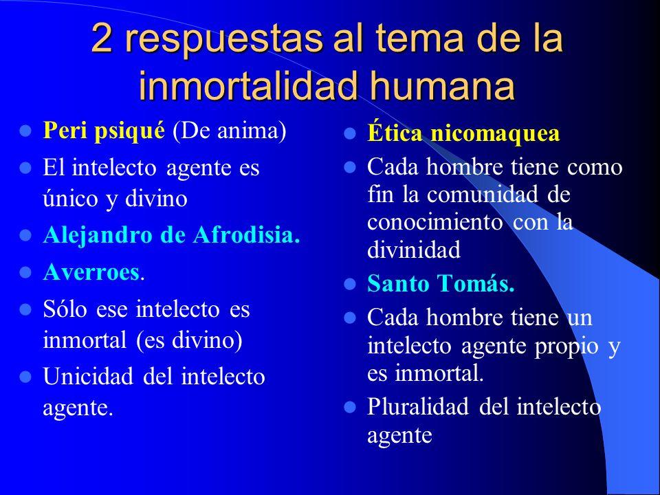 2 respuestas al tema de la inmortalidad humana