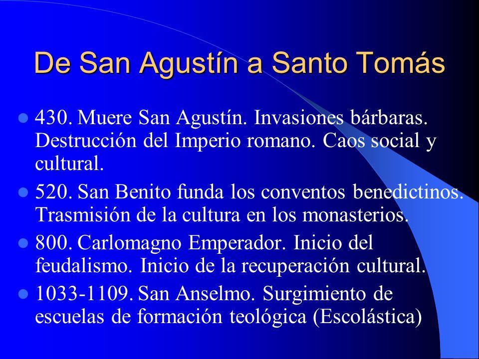 De San Agustín a Santo Tomás