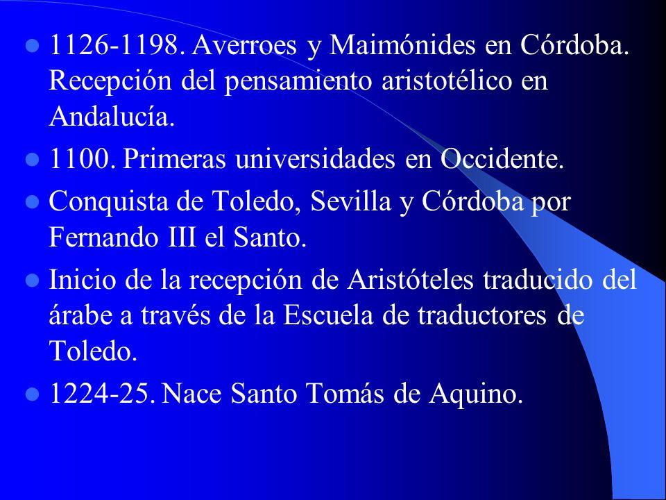 1126-1198. Averroes y Maimónides en Córdoba
