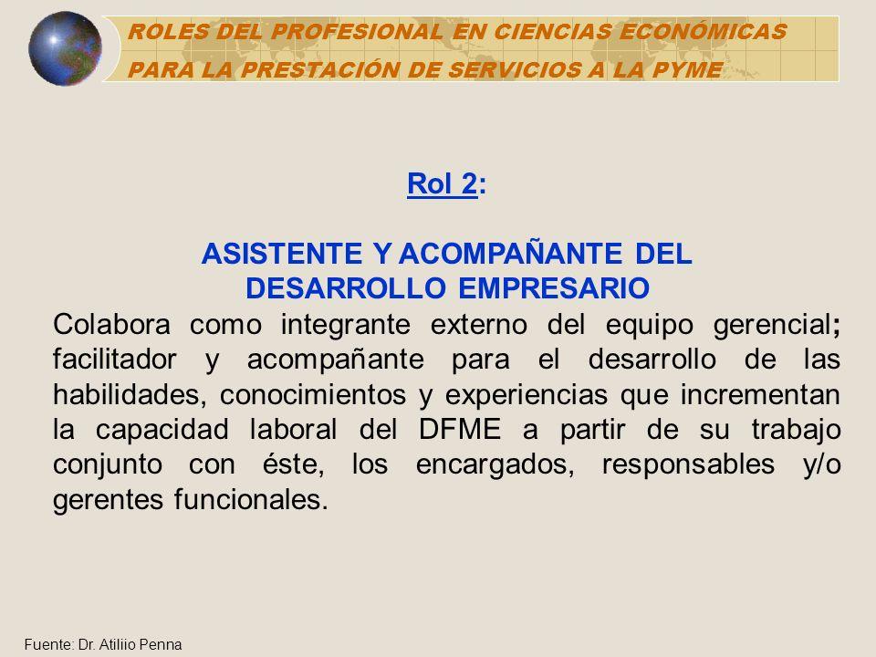 ASISTENTE Y ACOMPAÑANTE DEL DESARROLLO EMPRESARIO