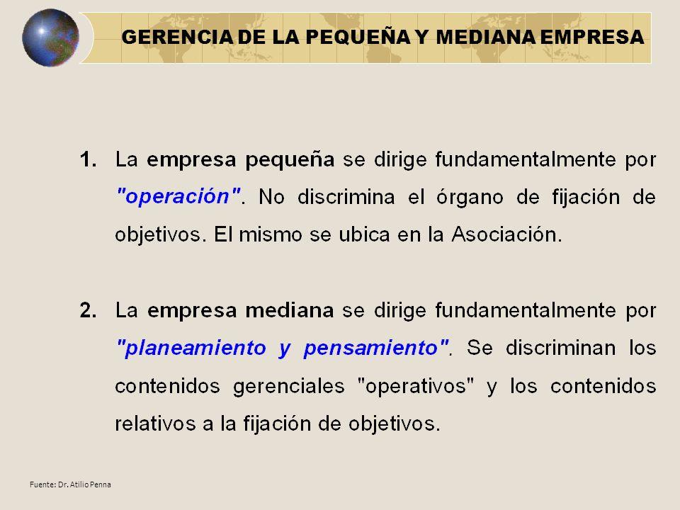 GERENCIA DE LA PEQUEÑA Y MEDIANA EMPRESA