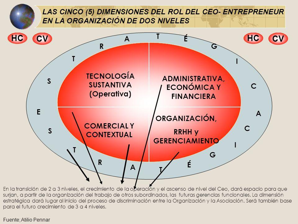 LAS CINCO (5) DIMENSIONES DEL ROL DEL CEO- ENTREPRENEUR EN LA ORGANIZACIÓN DE DOS NIVELES