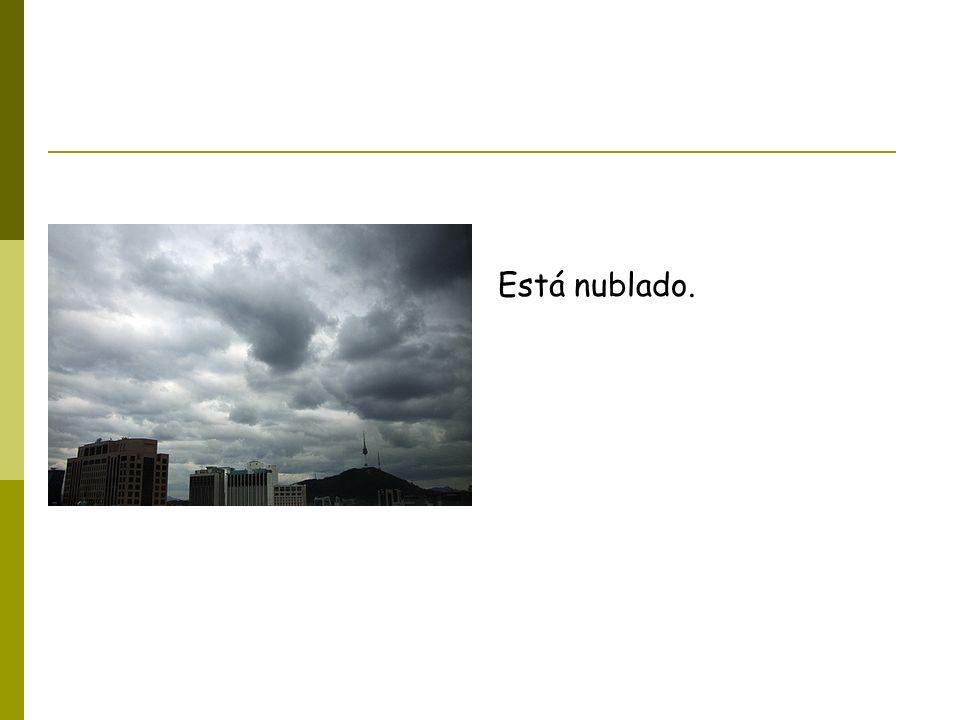 Está nublado.
