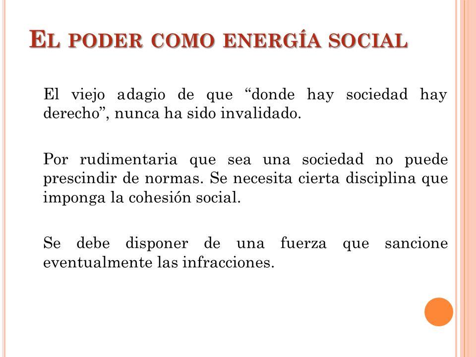 El poder como energía social