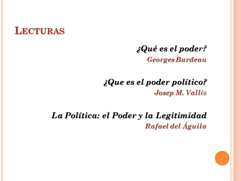 Lecturas ¿Qué es el poder ¿Que es el poder político