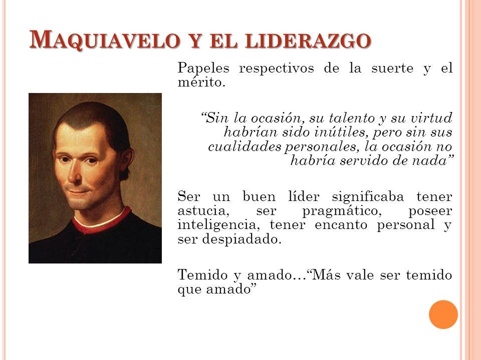 Maquiavelo y el liderazgo