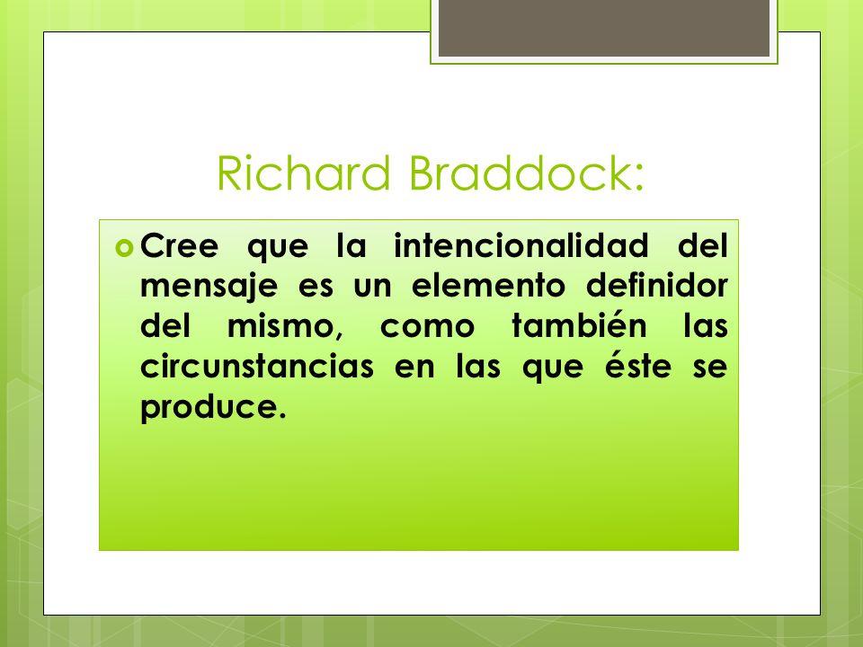 Richard Braddock: