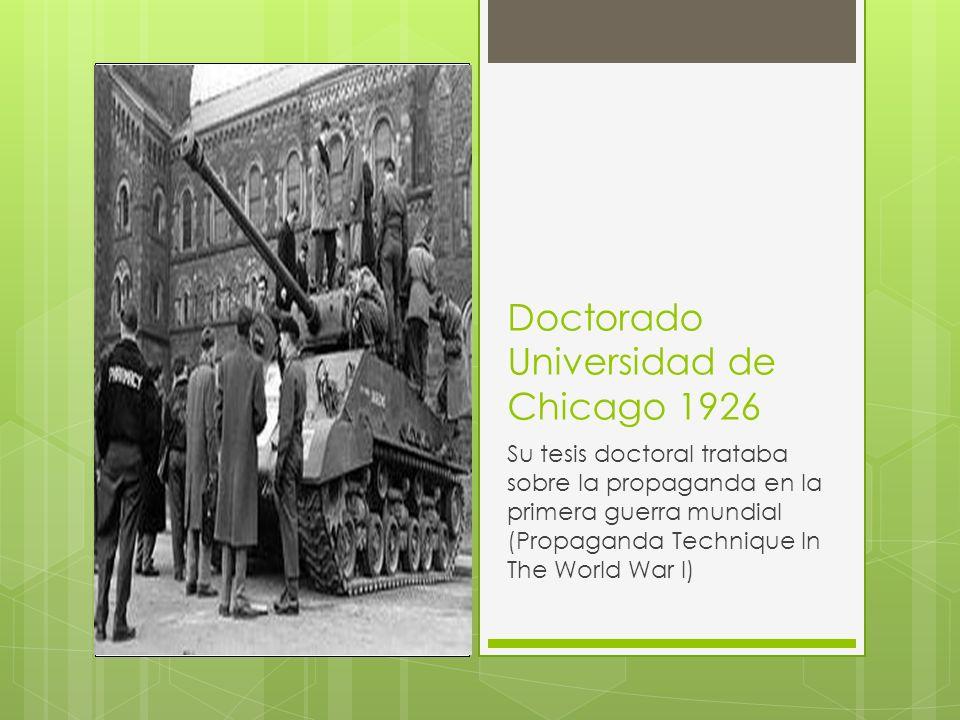 Doctorado Universidad de Chicago 1926