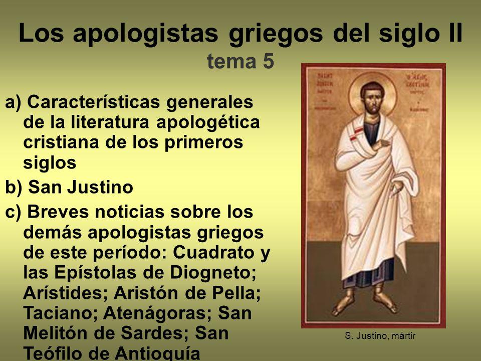 Los apologistas griegos del siglo II tema 5