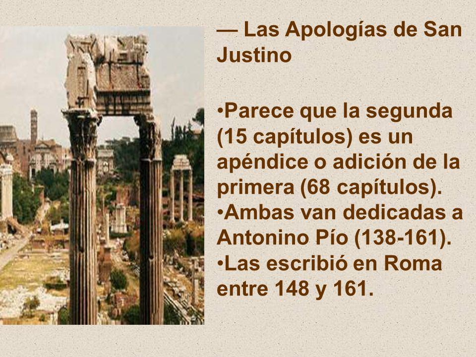— Las Apologías de San Justino