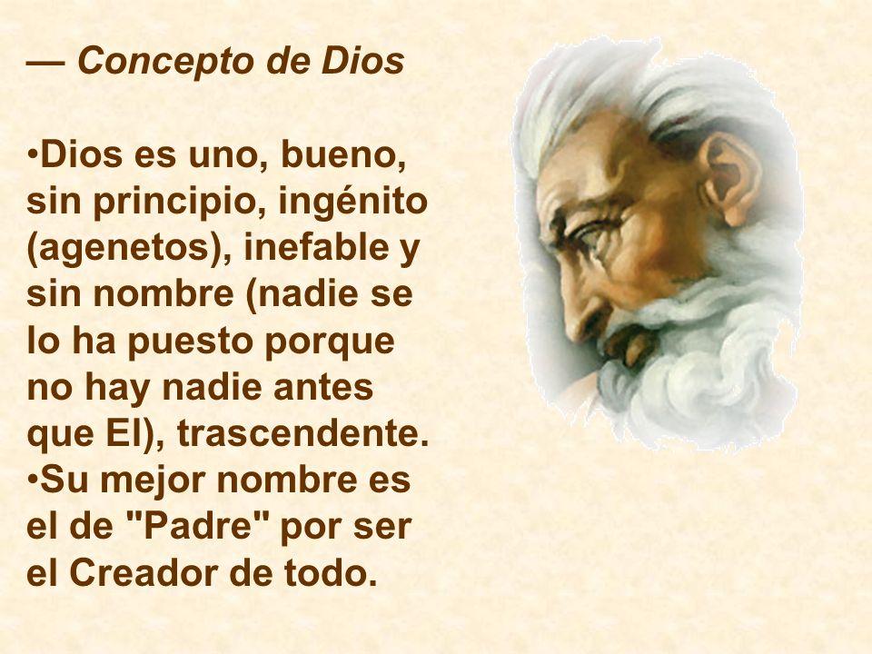 — Concepto de Dios