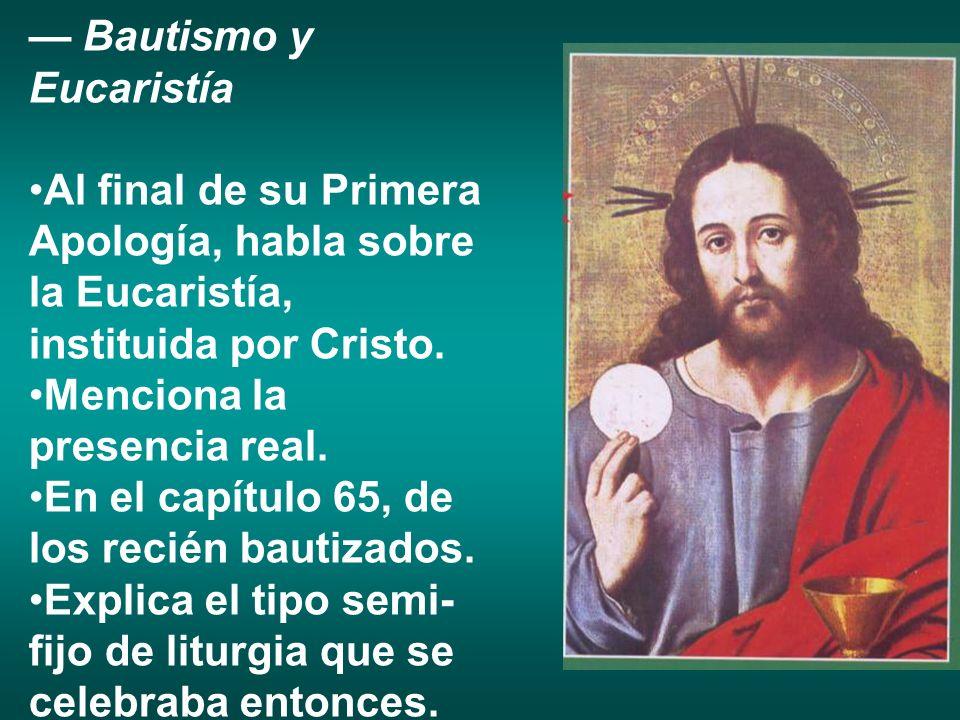 — Bautismo y Eucaristía