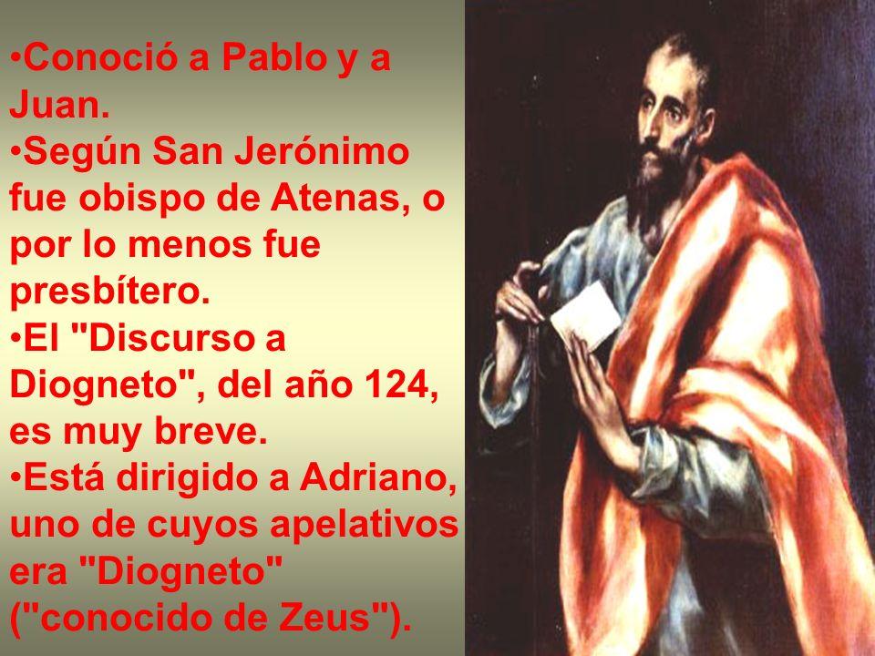 Conoció a Pablo y a Juan. Según San Jerónimo fue obispo de Atenas, o por lo menos fue presbítero.