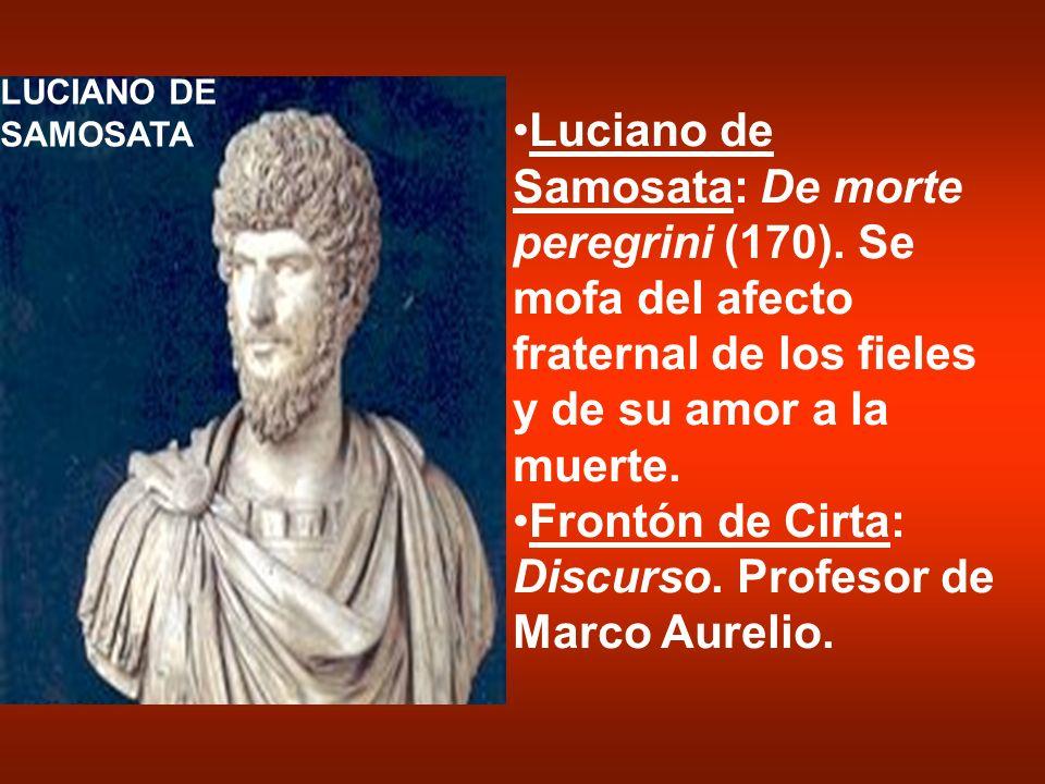 Frontón de Cirta: Discurso. Profesor de Marco Aurelio.
