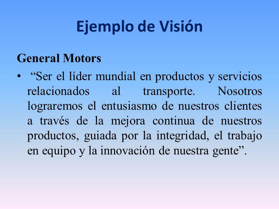 Ejemplo de Visión General Motors