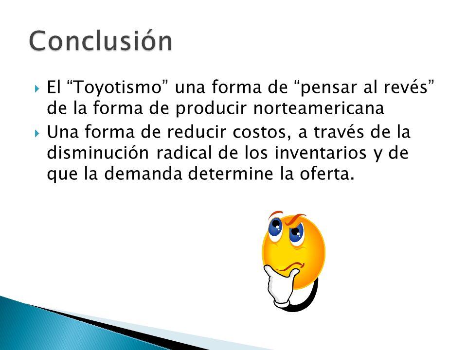 ConclusiónEl Toyotismo una forma de pensar al revés de la forma de producir norteamericana.