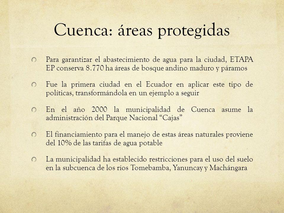 Cuenca: áreas protegidas