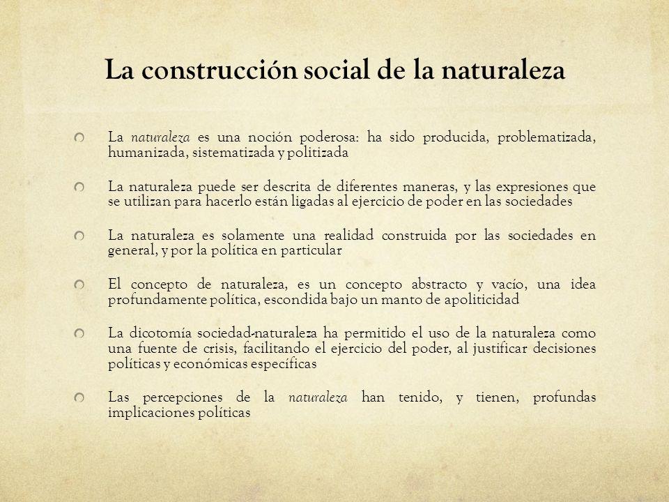 La construcción social de la naturaleza